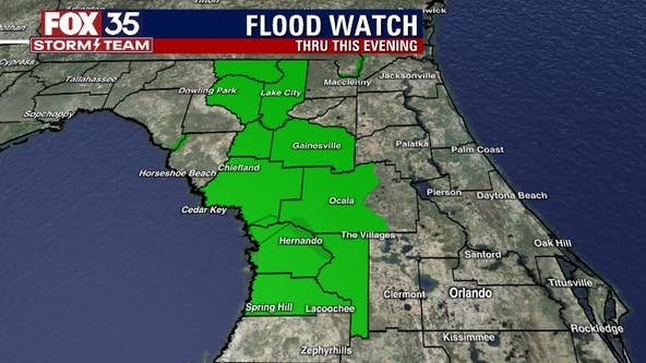 Rainy skies continue; Flood Watch remains in effect