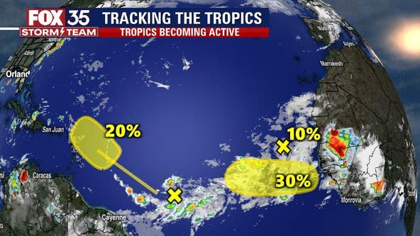 NHC: Tropics show signs of life with 3 systems in the Atlantic