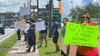 About 30 Disney workers march in protest of vaccine mandate