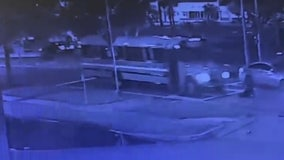 Video appears to show pedestrian being hit by school bus in Orlando