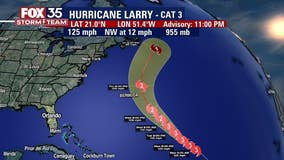 Hurricane Larry churns as a powerful Category 3 storm