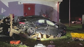 Car crashes into Florida fire station narrowly missing lieutenant's bed