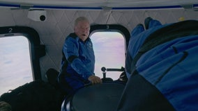 Footage shows William Shatner and fellow Blue Origin crew in space
